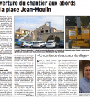 Ouverture du chantier aux abords de la place Jean-Moulin